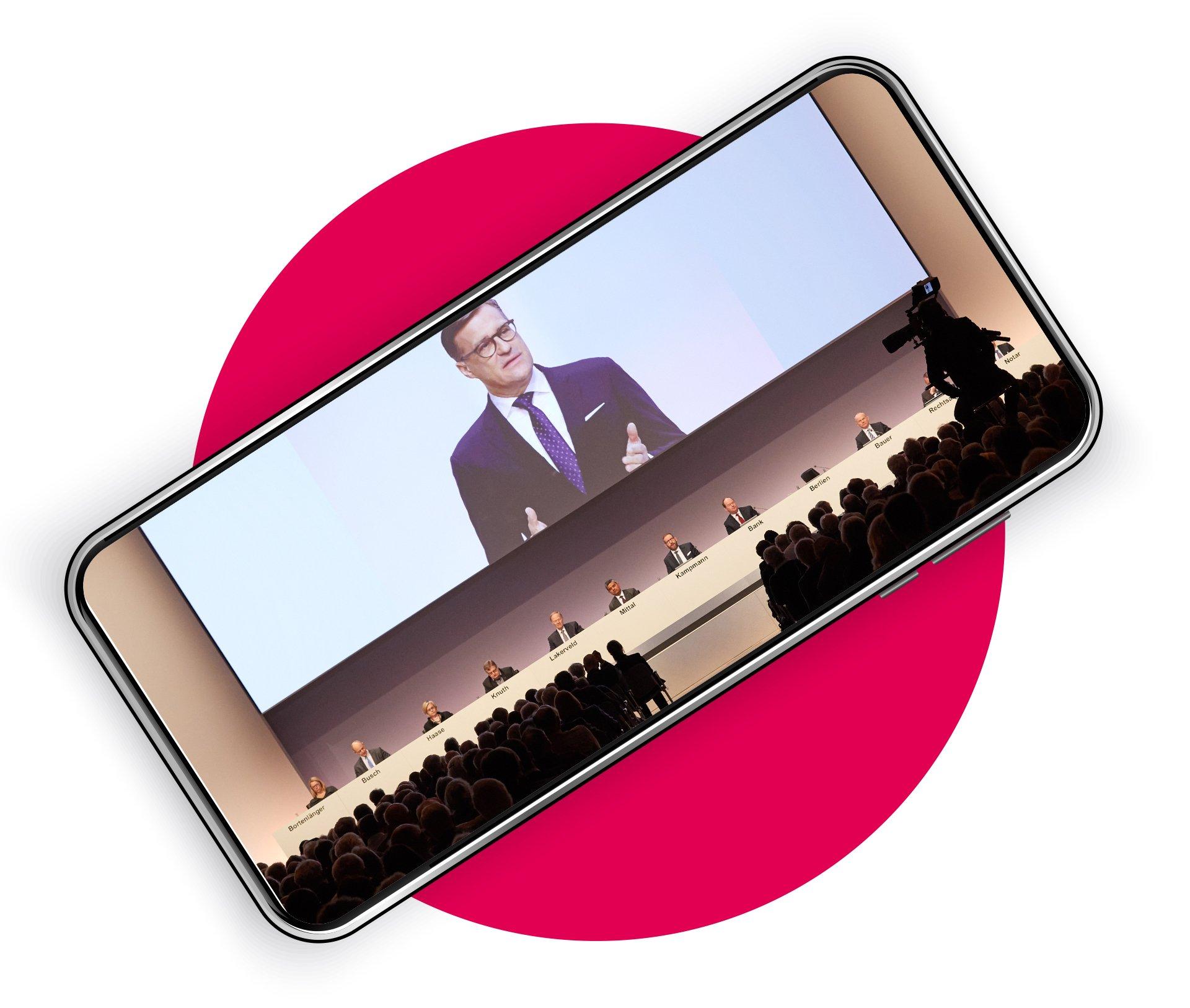 Streaming Portal mit Event App