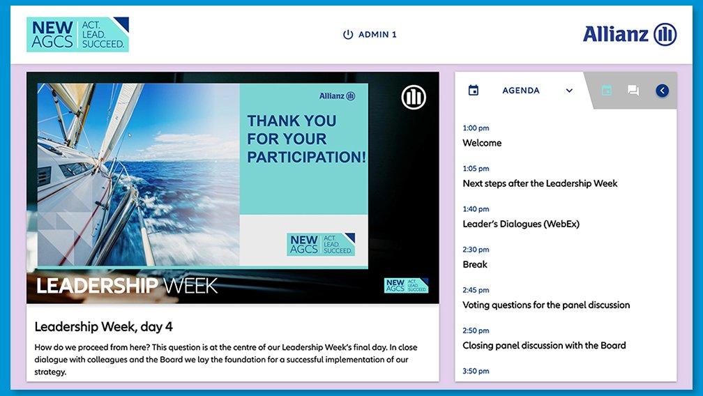 Allianz Leadership Week Agenda