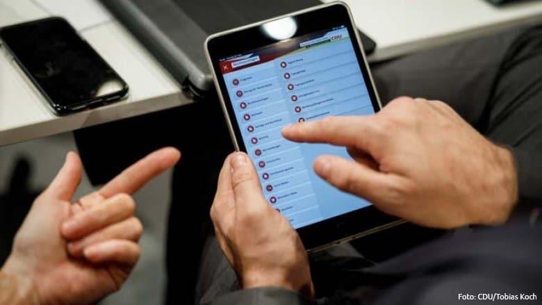 CDU Parteitag 2019 Live Abstimmung iPad