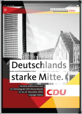 CDU Parteitag 2019 Live Abstimmung Tablet
