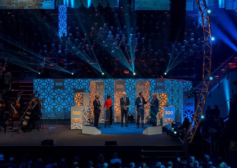 500 Jahre Martin Luther Bühne Redner