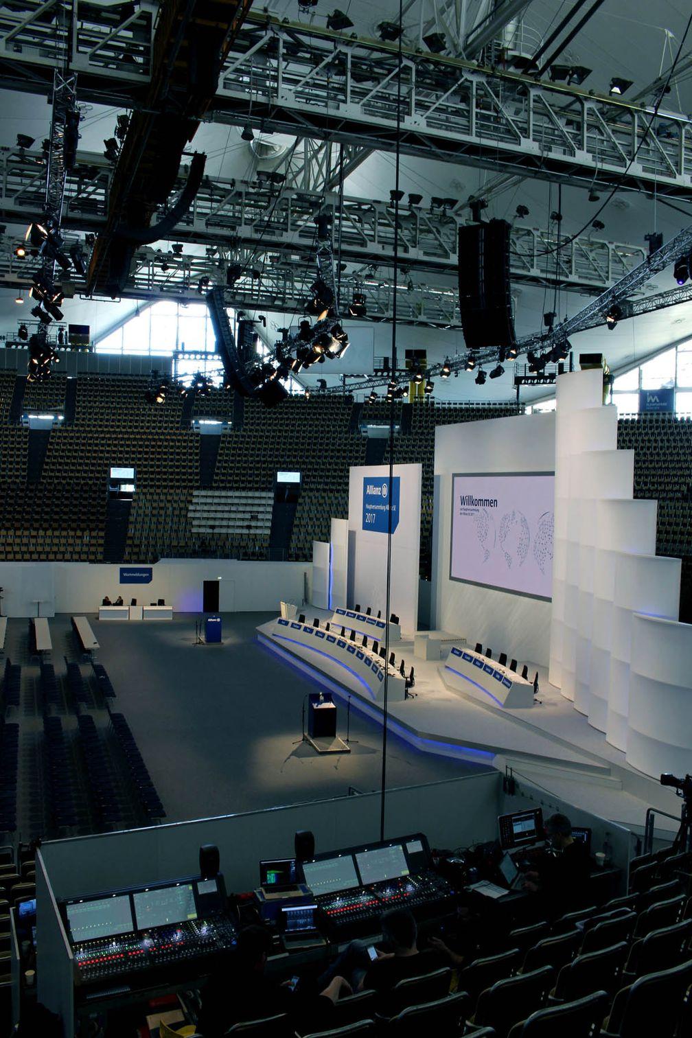 Allianz Hauptversammlung Bühne