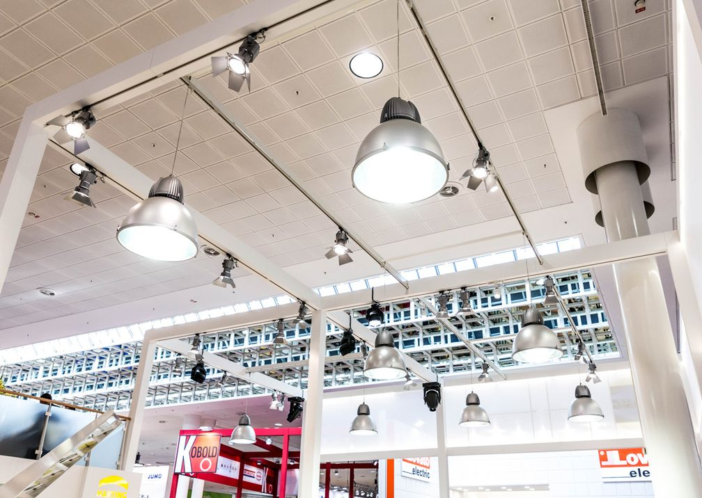 Hannover Messe Harting Deckenbeleuchtung