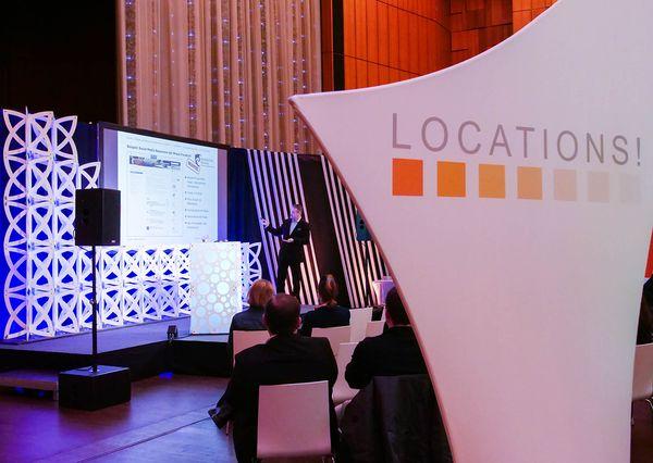 G+B Locations Messe Vorführung