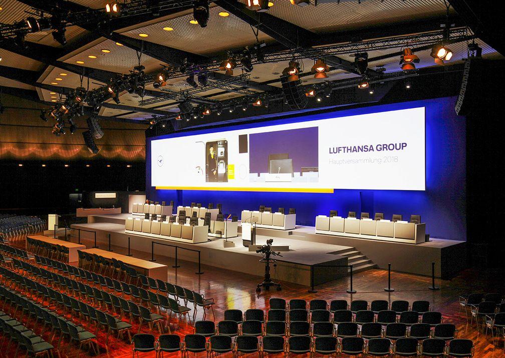 Deutsche Lufthansa AG Hauptversammlung Bühne