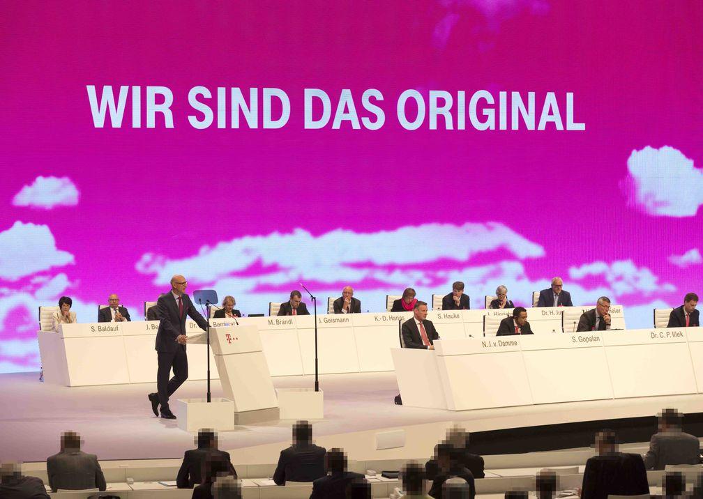 Telekom Hauptversammlung Redner