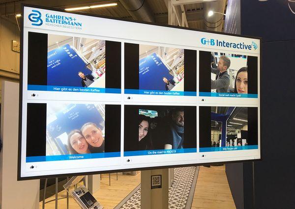 BOE 2019 G+B Interactive Social Wall