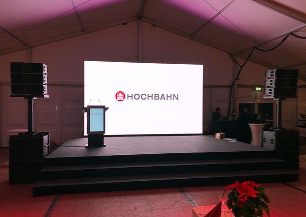 G+B technische Ausstattung Hochbahn Eröffnungsfeier