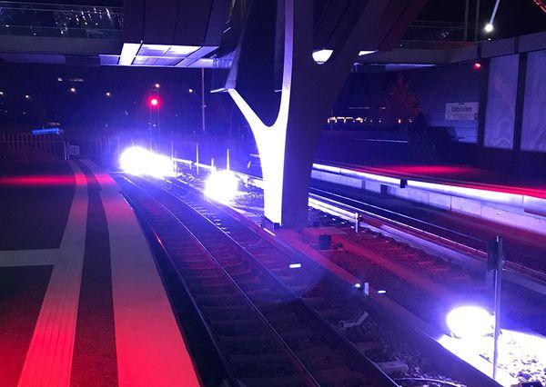 Hamburg Hochbahn Elbbrücken Audiovisuelle Inszenierung