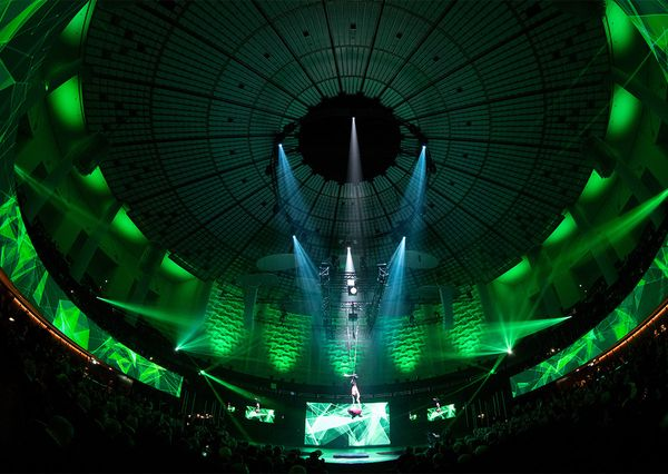 Hannover Messe 2018 Eröffnungsfeier grünes Licht