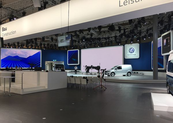 IAA VW preparation for presentation with newly presented vehicle
