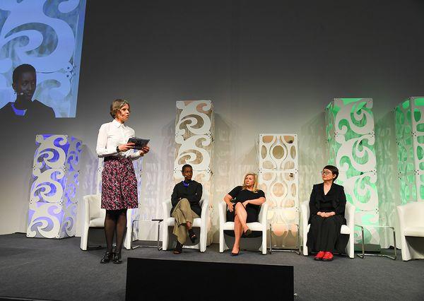 IMEX 2019 Kerstin Wünsch als Moderatorin