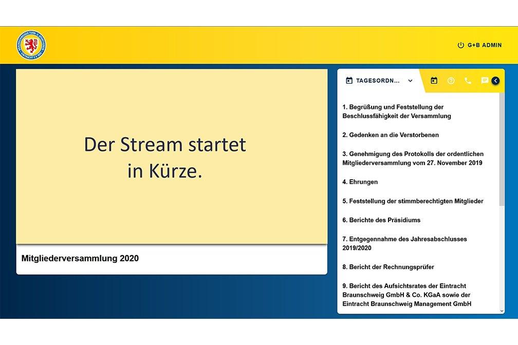 Eintracht Braunschweig digitale Mitgliederversammlung Portal