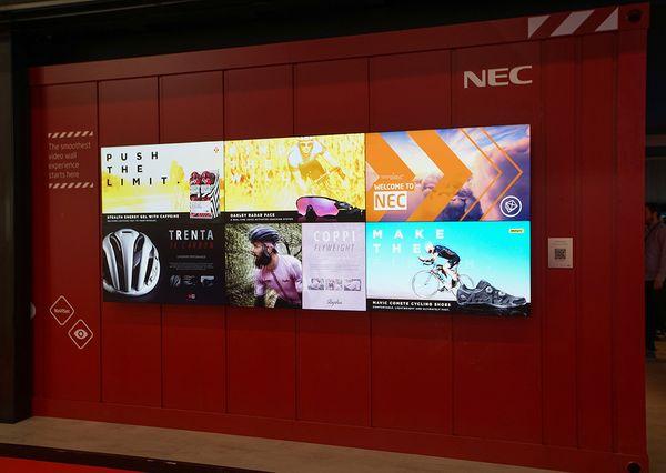 NEC Displaywand bei Prolight + Sound 2019