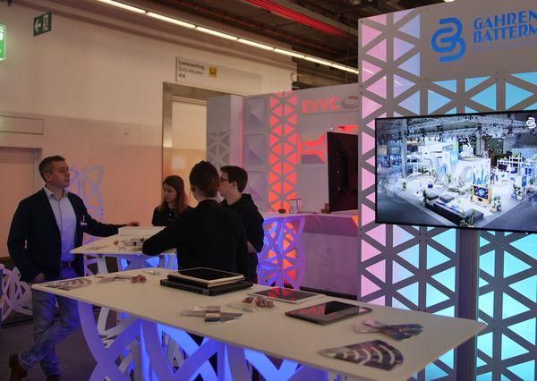 Prolight + Sound 2019 G+B Prolight + Sound 2019 G+B and EVVC Stand Construction Concept Tables