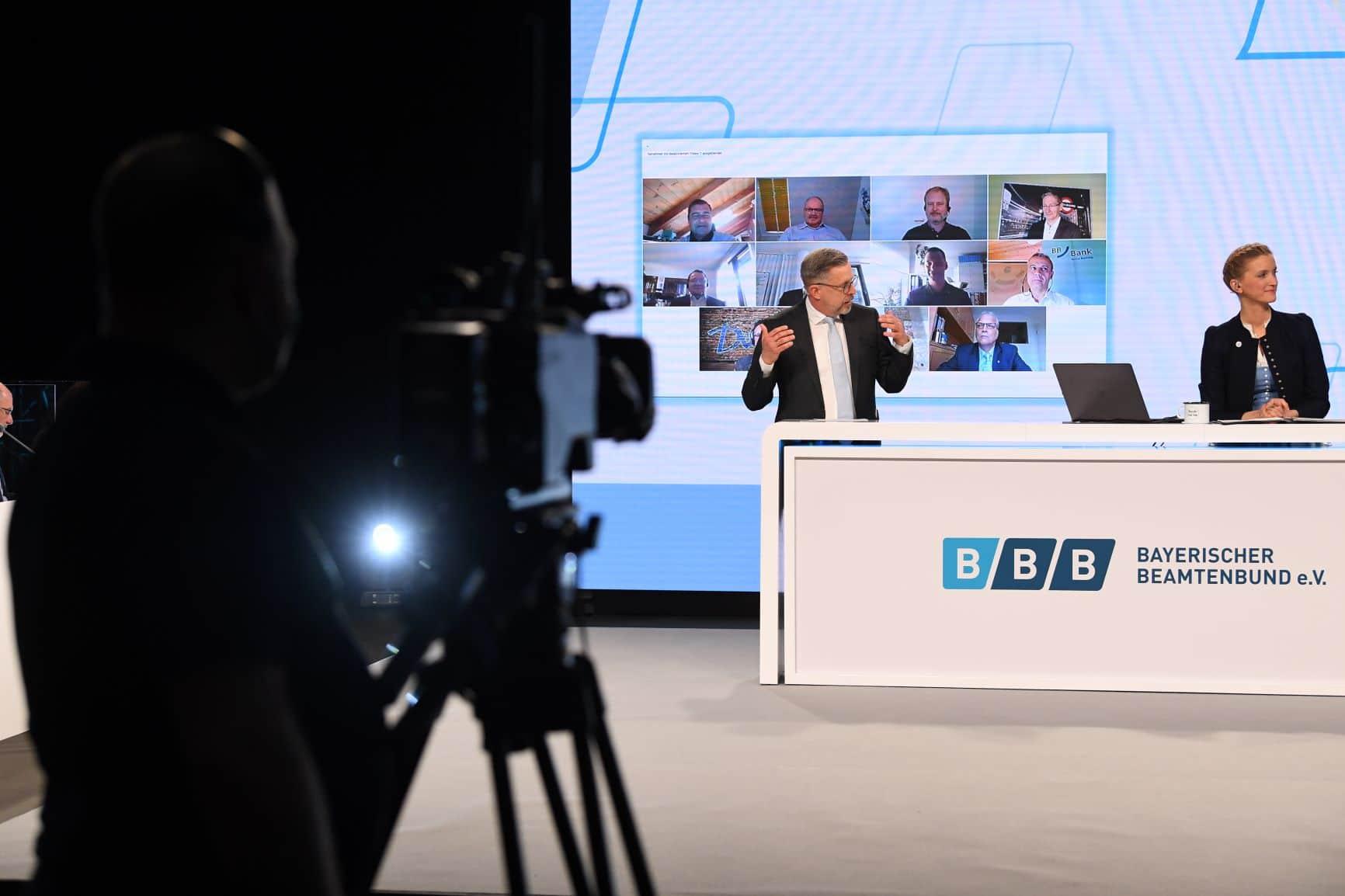 Bayerischer Beamtenbund 2021 Delegiertentag Kamera