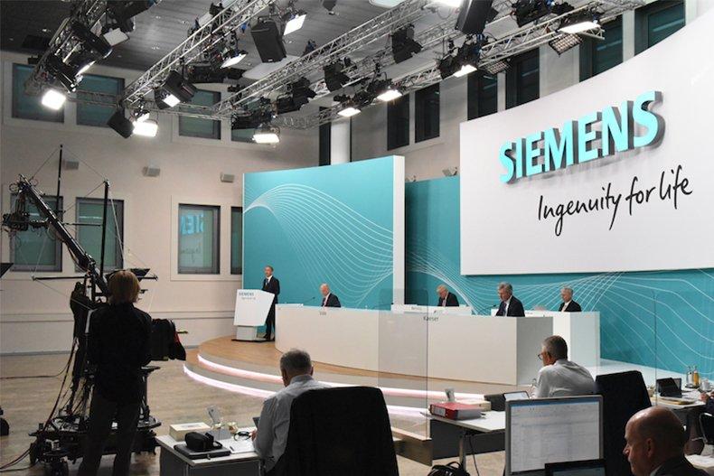 Hauptversammlung von Siemens